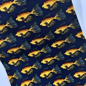 Jerry Garcia Vintage Angel Fish Silk Tie